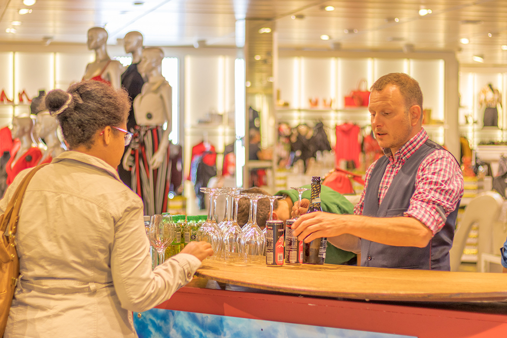 Wine Tasting in Clothing Store