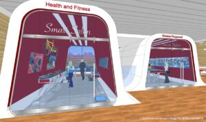 Smart Salon Concept Rendering for Safe, Clean Shopping Experience